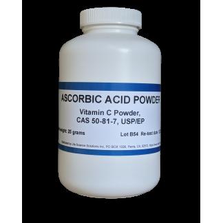 Ascorbic Acid (Vitamin C) Powder, USP/EP, 25 Grams